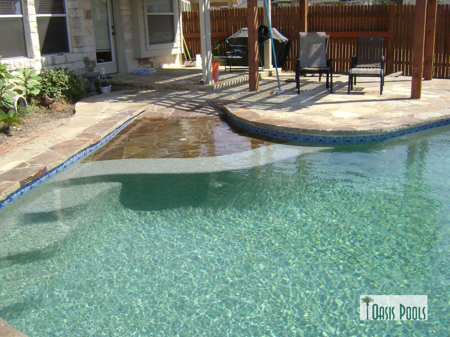 Steps Off The Side Of Beach Entry Or Tanning Ledge? | Favorite Pool