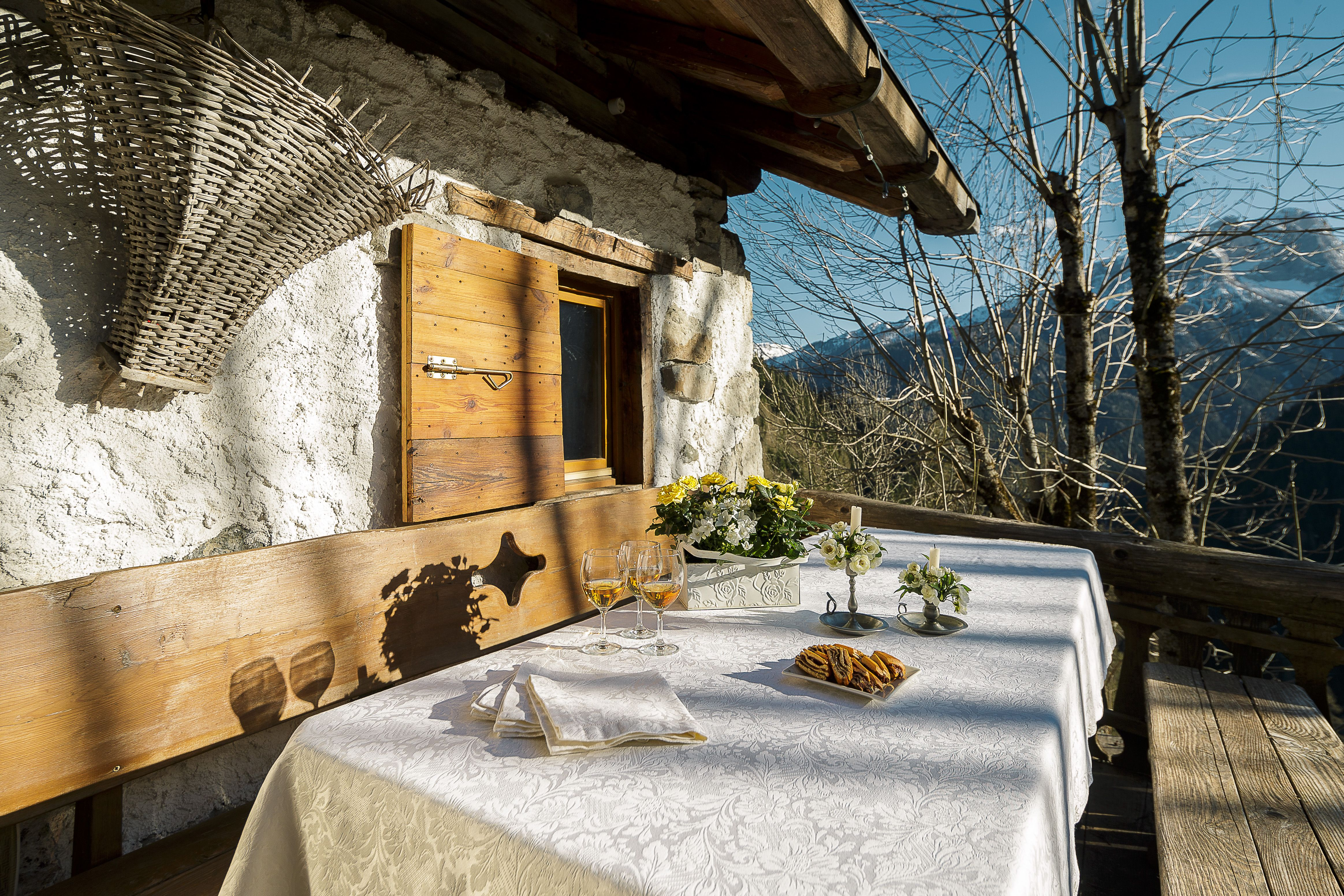 Our Lisa tablecloth makes this table very inviting. Would you like to join us for lunch?  www.viewofcortina.com