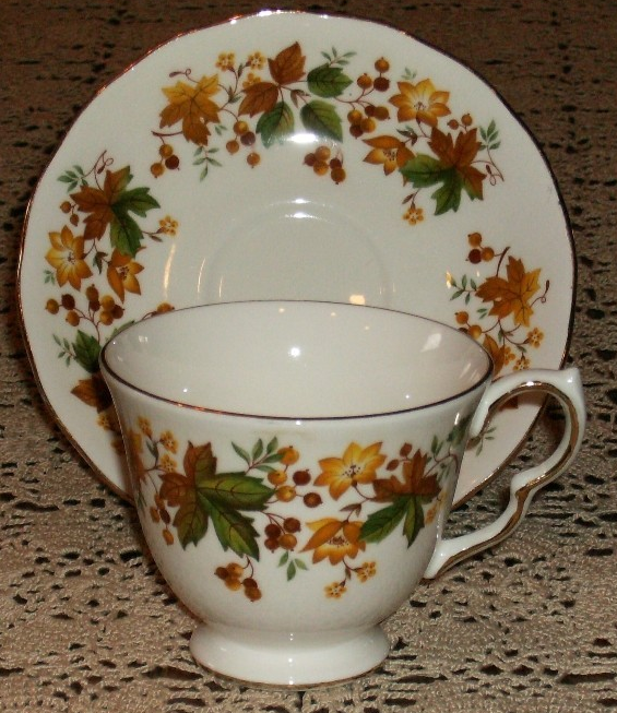 Vintage Queen Anne Tea Cup and Lunch Plate Sandwich Set