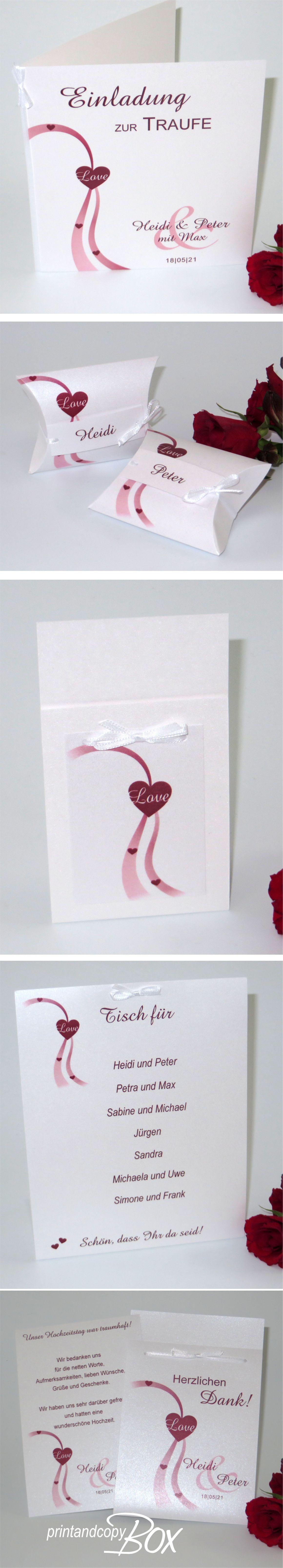 Einladungskarte Und Deko Fur Die Hochzeit Mit Taufe Feiert Eure