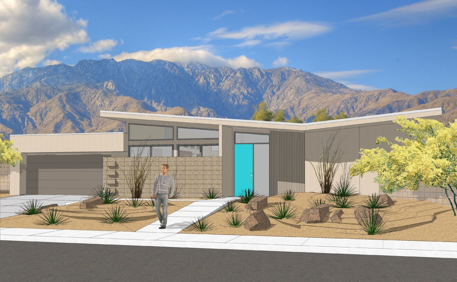 New Mid Century Inspired Homes In Central Palm Springs Mid