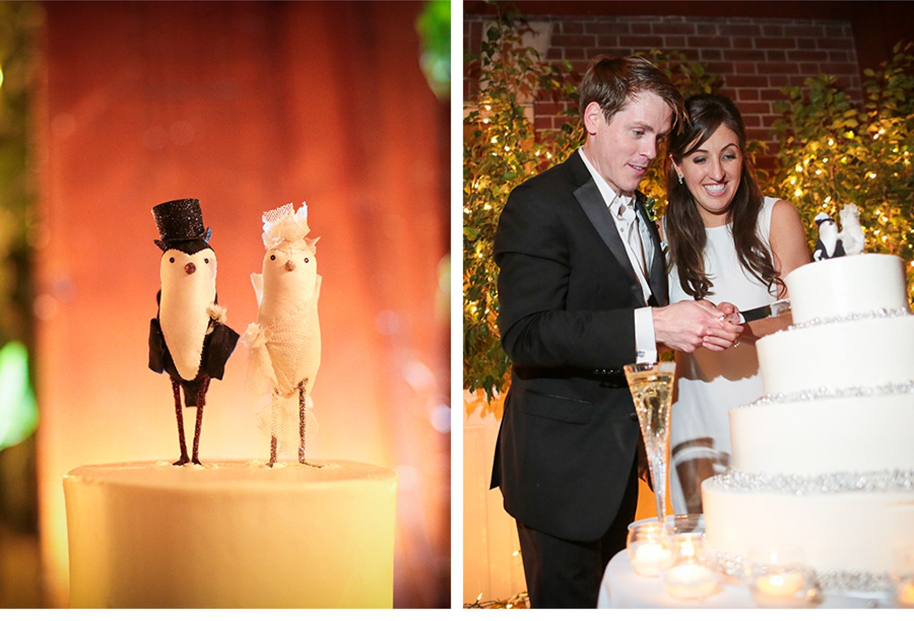 Winter Wedding at The Loeb Boathouse Central Park - Be inspired by Carter & Brad's snowy New York City wedding at The Loeb Boathouse Central Park #wedding #nyc #newyorkcity #winter #bestinsnow #december #cake #snowflake #bride #groom #bird #caketopper #silver