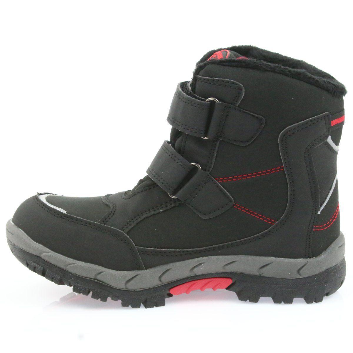 American Club American Kozaki Buty Zimowe Z Membrana 3123 Czarne Czerwone Boots Winter Boots Childrens Boots