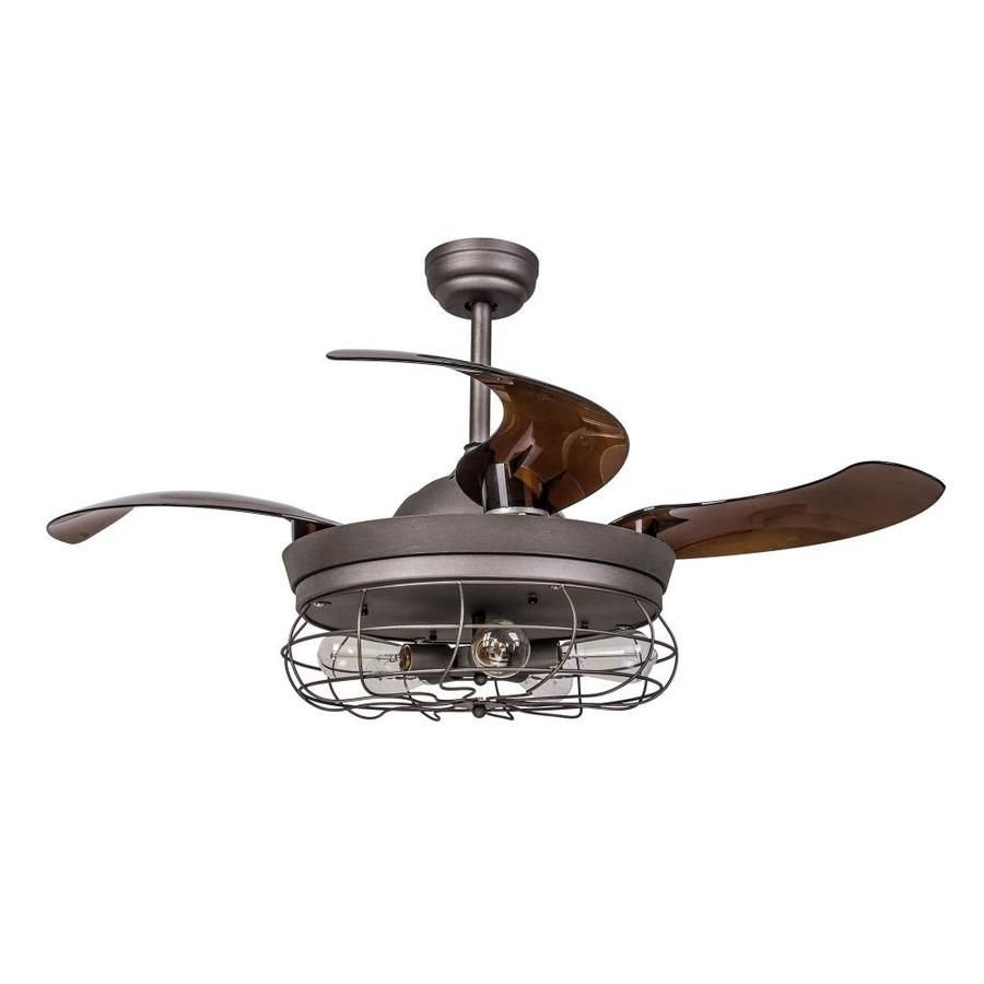 Parrot Uncle 46 In Matte Brown Led Indoor Outdoor Ceiling Fan And