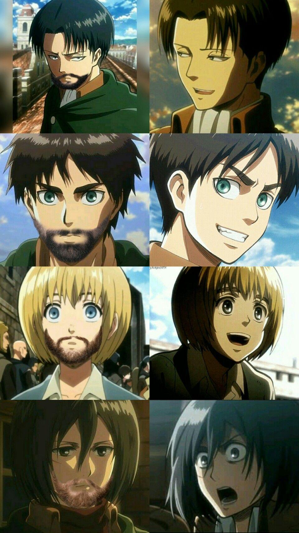 AOT Funny 1 Attack on titan funny, Anime memes funny
