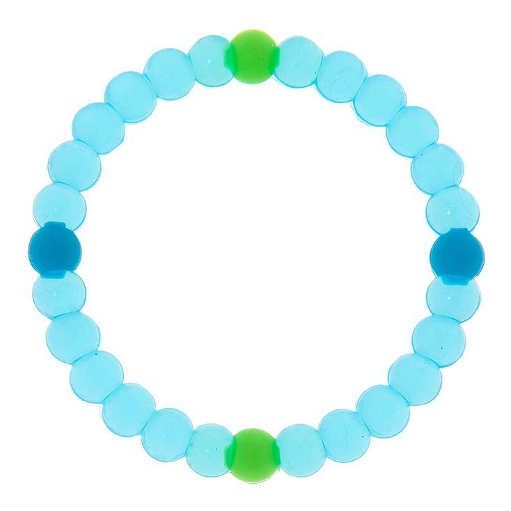 Clear Blue Fortune Bracelet