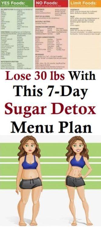 Lose 30 lbs with This 7-Day Sugar Detox Menu Plan #sugardetoxplan