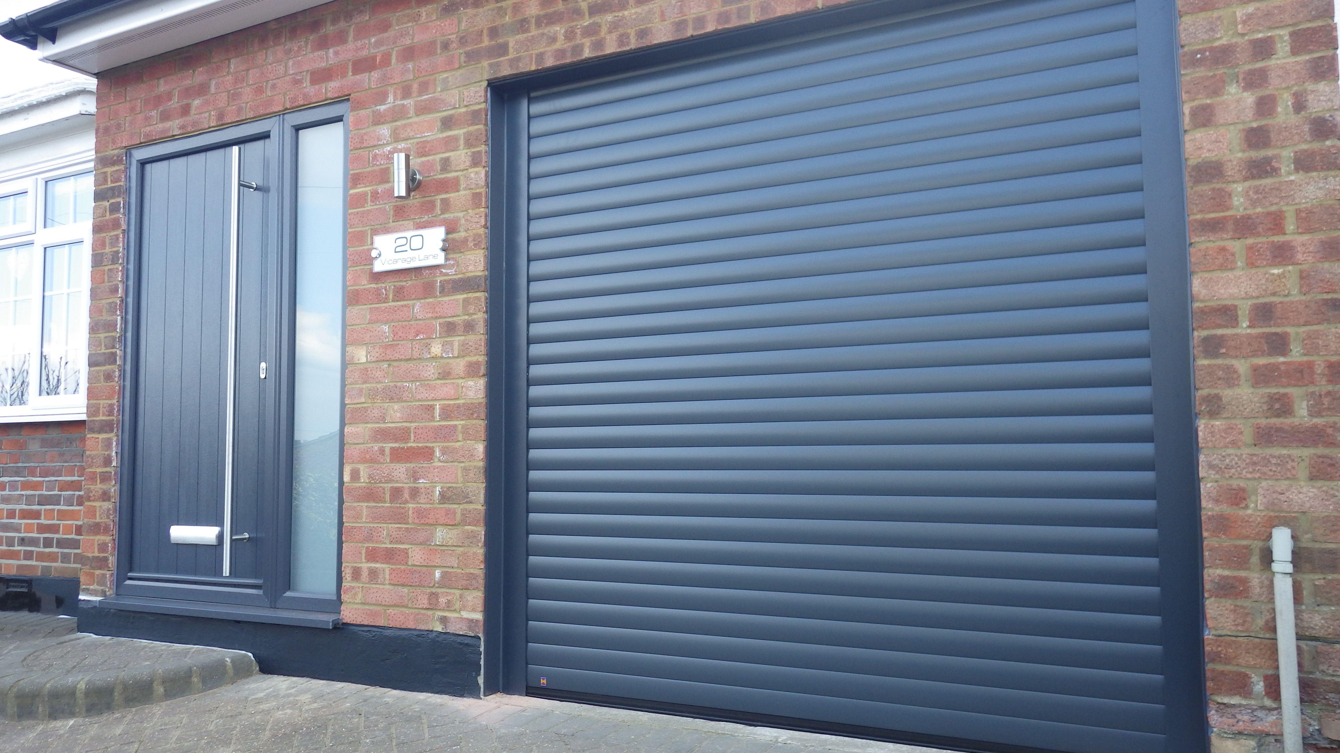 Hormann Rollmatic Garage Door In Anthracite Grey Swr Redefining Homes Garage Door Styles Exterior House Remodel House Front Door