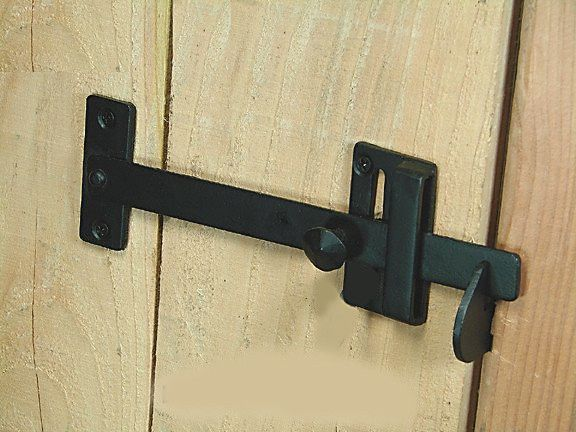 Long Bar Gate Latch Hand Forged Iron With Images Gate Latch