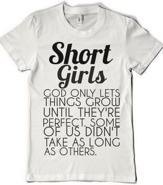 New Funny Girl Short Girls SHORT GIRLS - glamfoxx.com - Skreened T-shirts, Organic Shirts, Hoodies, Kids Tees, Baby One-Pieces and Tote Bags 3