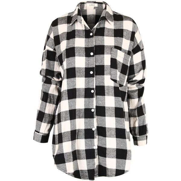 Ililily Classic Buffalo Plaid Checkered Loose Fit Button Down