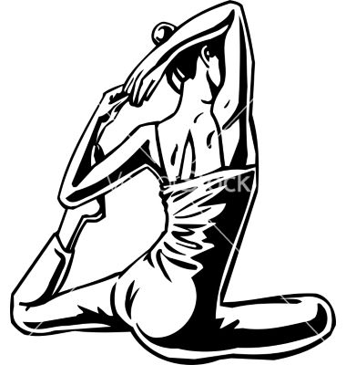 Womens fitness yoga strech vector  by dclipart on VectorStock®