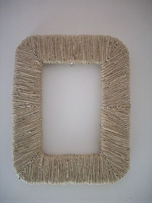 Frame Tutorial Made With Styrofoam And Hemp Twine Picture
