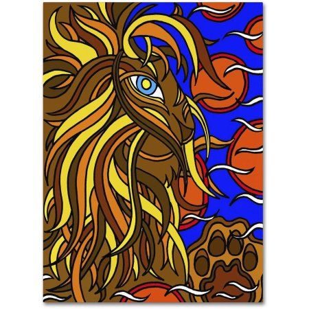 Trademark Fine Art Lester the Lion Alive Canvas Art by Kathy G. Ahrens, Size: 24 x 32, Assorted