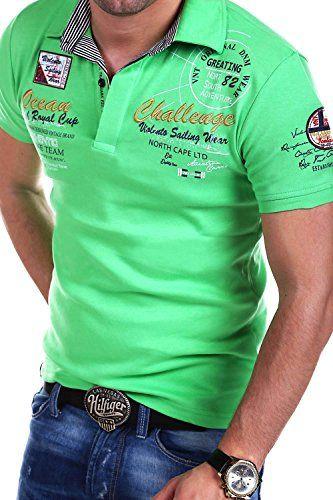 45f8f3c447b358 MT Styles Poloshirt CHALLENGE T-Shirt R-2728  Grün