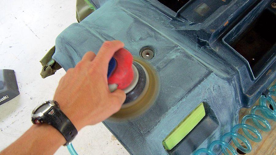 How to paint atv plastic atv bike repair auto body work