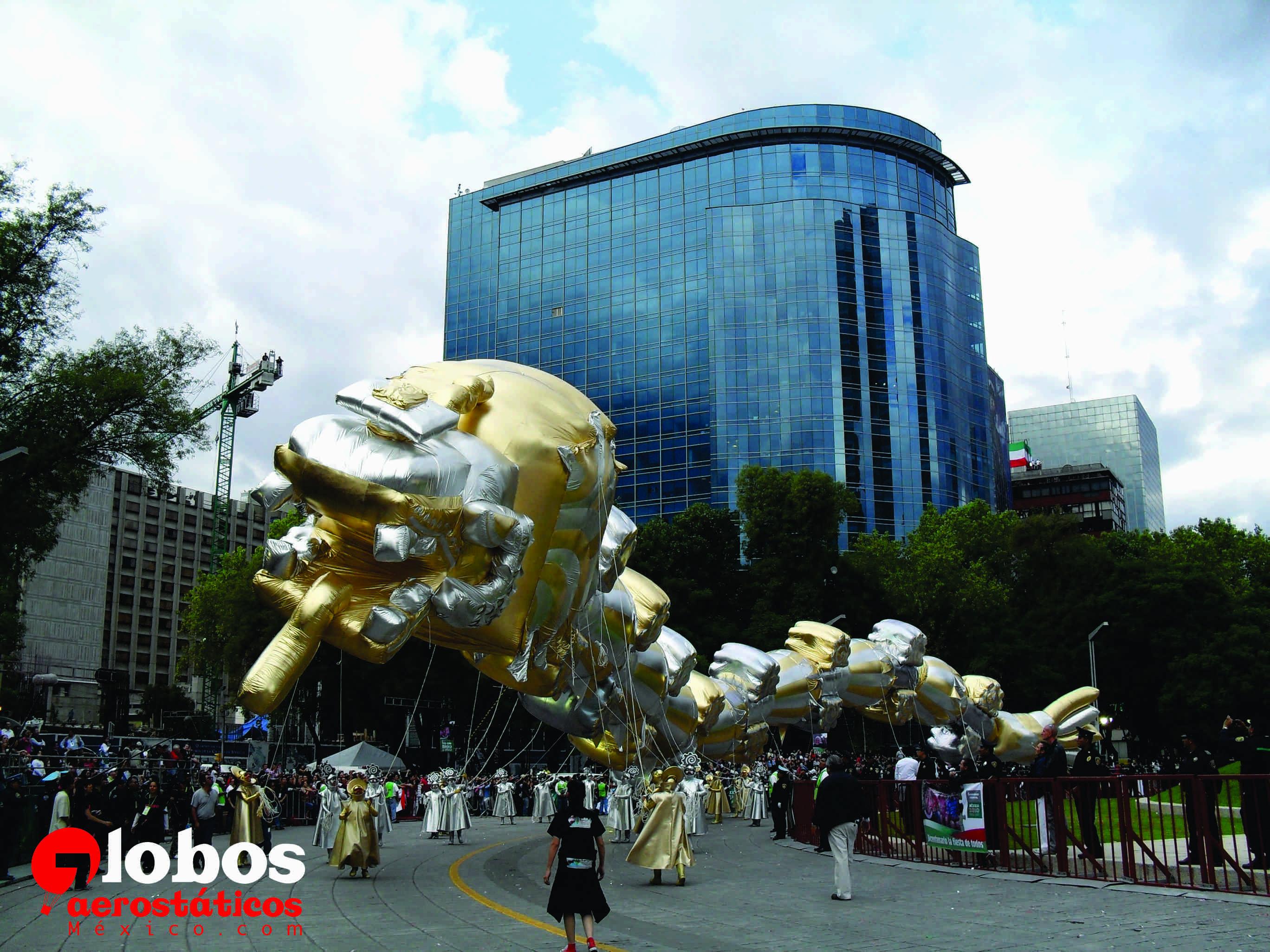 Kukulkan Desfile Bicentenario 60 Metros De Longitud Ana  # Muebles Kukulkan