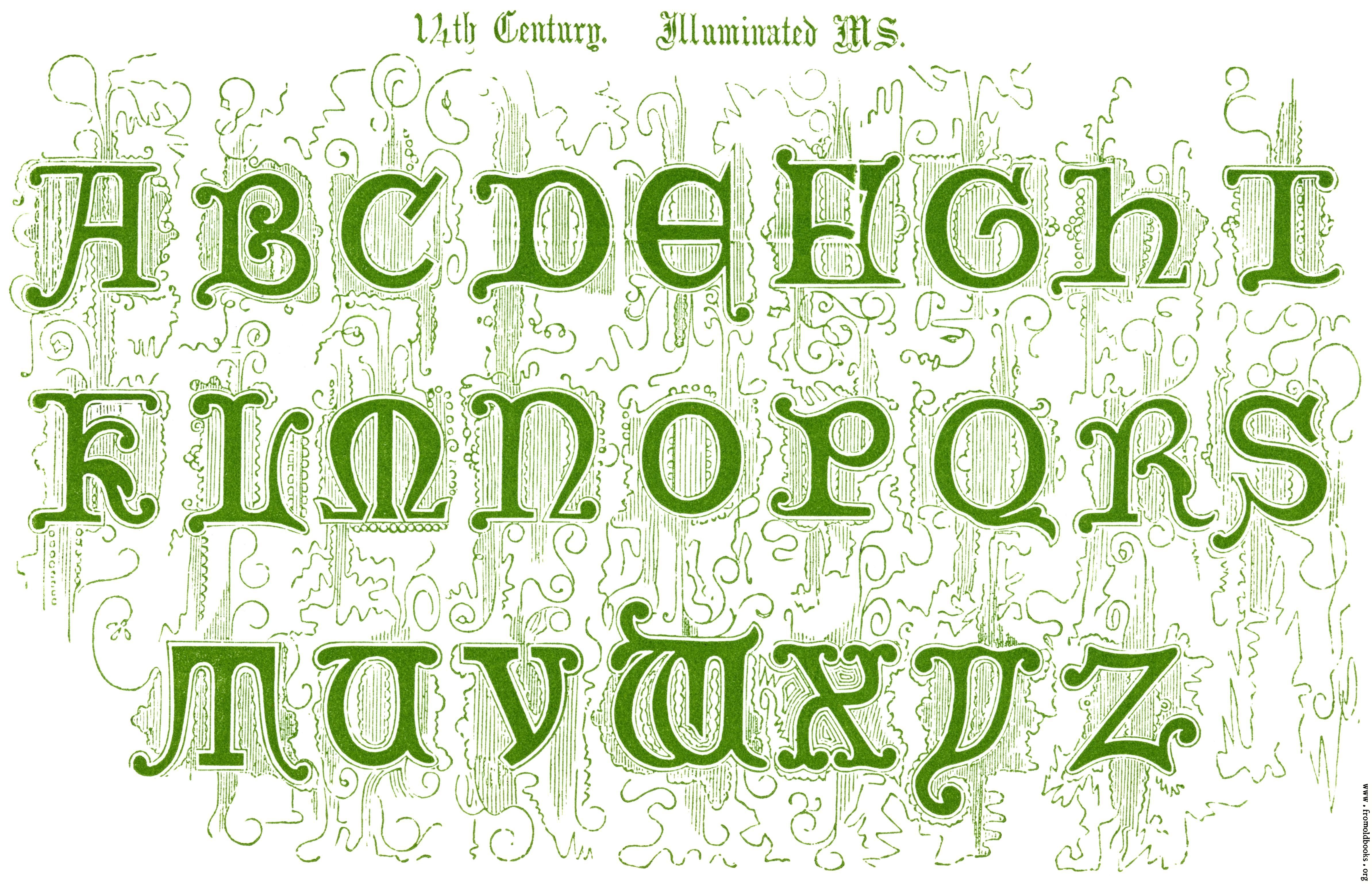 17 14th Century Illuminated Ms In 2020 Lettering Alphabet Fonts Typography Alphabet Lettering