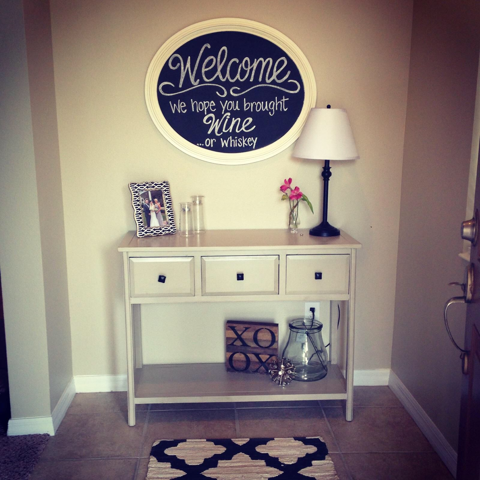 Check out our new entryway!