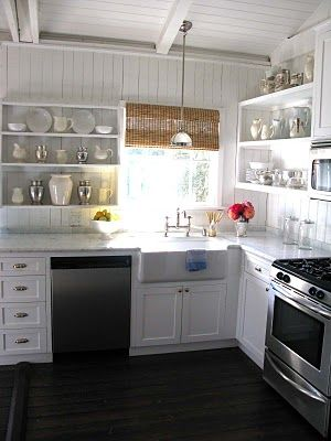 The Polished Pebble The Kitchen Considered Chapter 1 White Cottage Kitchens Cottage Style Kitchen Small White Kitchens