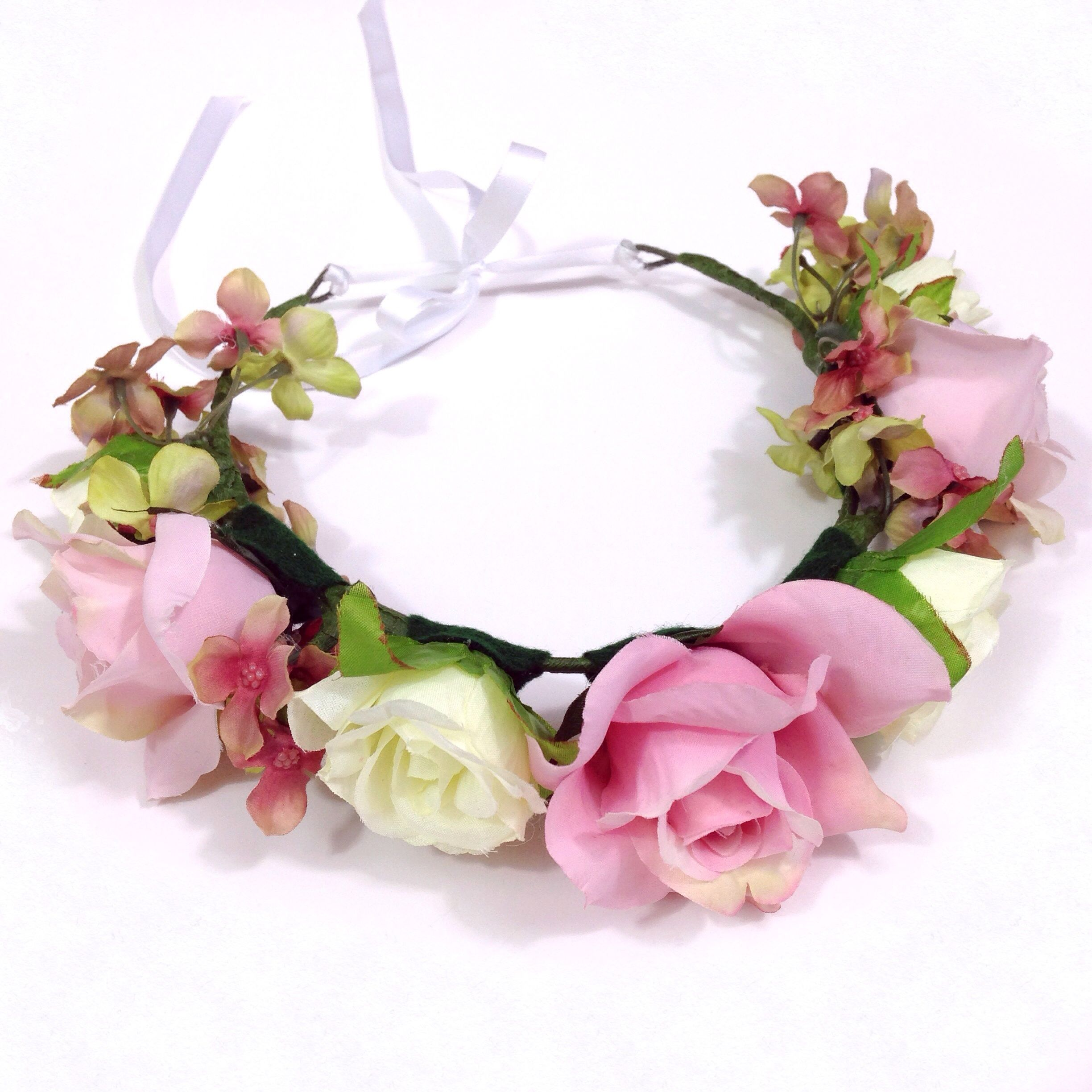100 High Quality Handmade Flower Crown Made From High Quality Silk