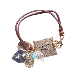 Gold plate with engraved saying is perfectly accented with Western style charms!