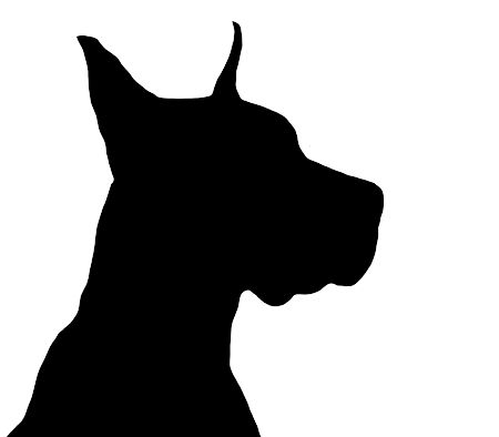 Great Dane Dog Silhouette Dog Tattoos Silhouette Art