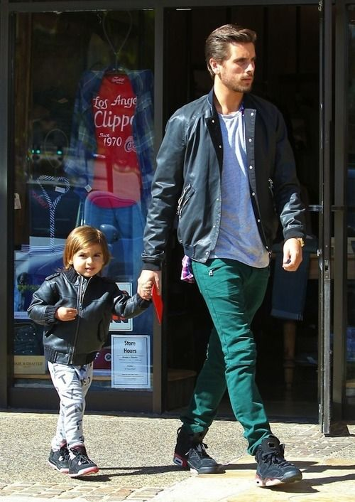 Scott & Mason Disick wearing Air Jordan 6 Infrareds and Nike