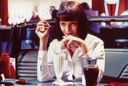 Mia Wallace. Went to a family wedding one got all dressed up my haircut was similar to hers. My uncle said upon seeing me that I looked tough like uma! Haha that from him was quite the compliment.