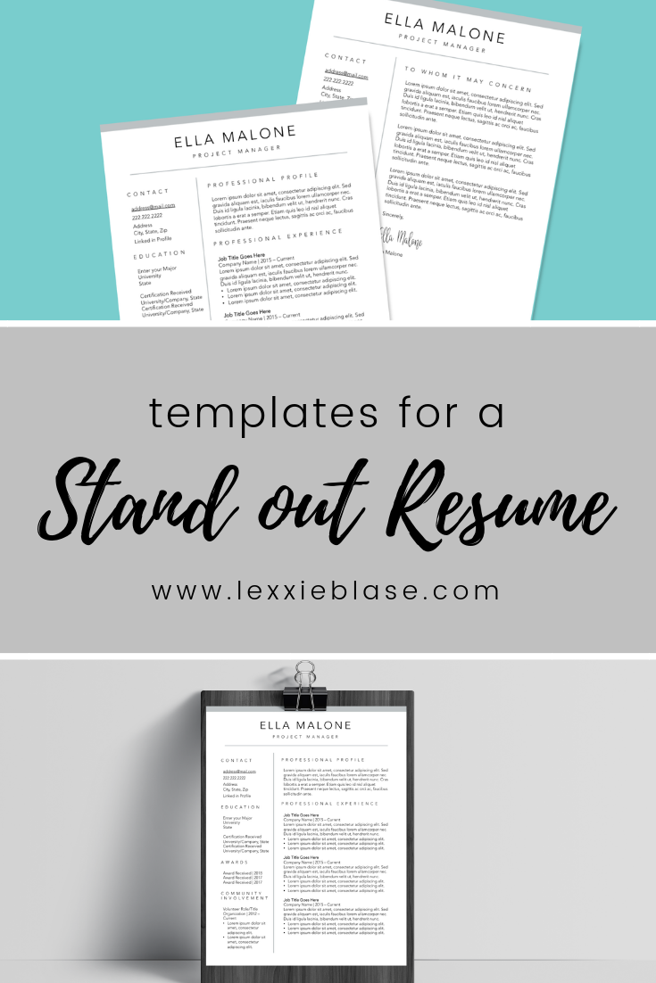 Instant Downloadable Resume Templates For The Modern Professional