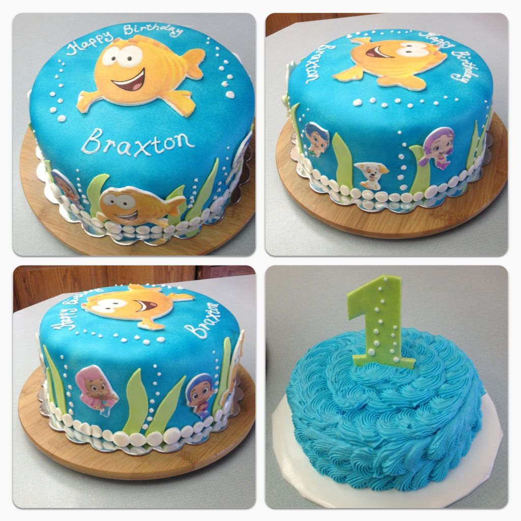Awesome Bubble Guppies 1St Birthday Cake By Peace Of Cake Catoosa Ok Funny Birthday Cards Online Alyptdamsfinfo