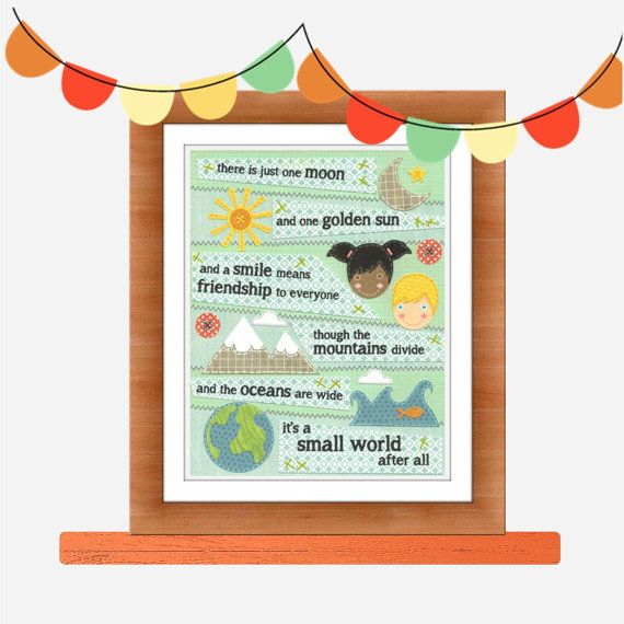 It's a Small World by Rosy Hues Kids art Nursery by RosyHuesArt, $14.00