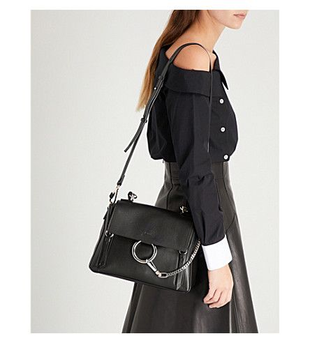 86472ccde579 CHLOE Faye Day small grained leather shoulder bag in 2019