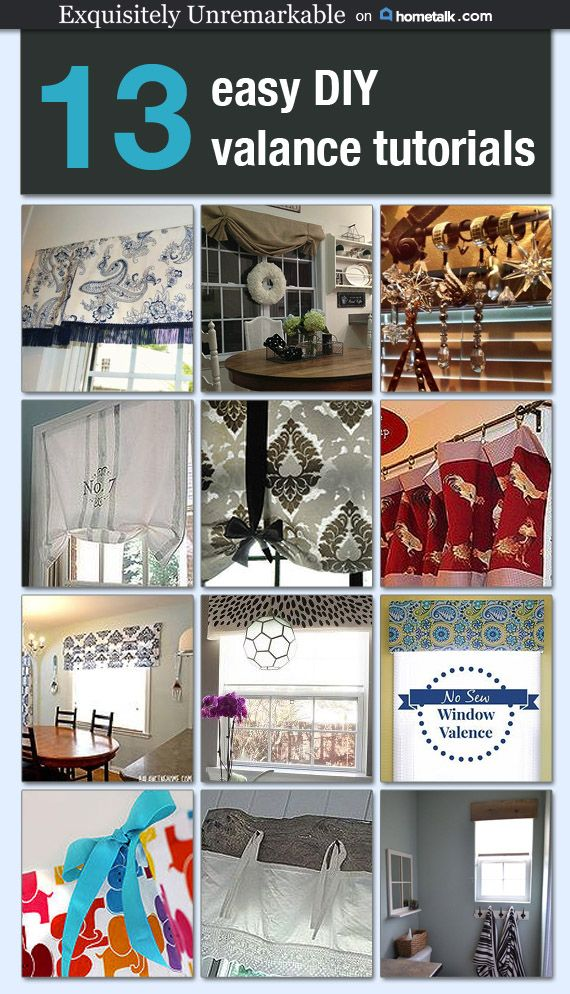 Cheap And Easy Curtain Ideas No Sew Valance Diy