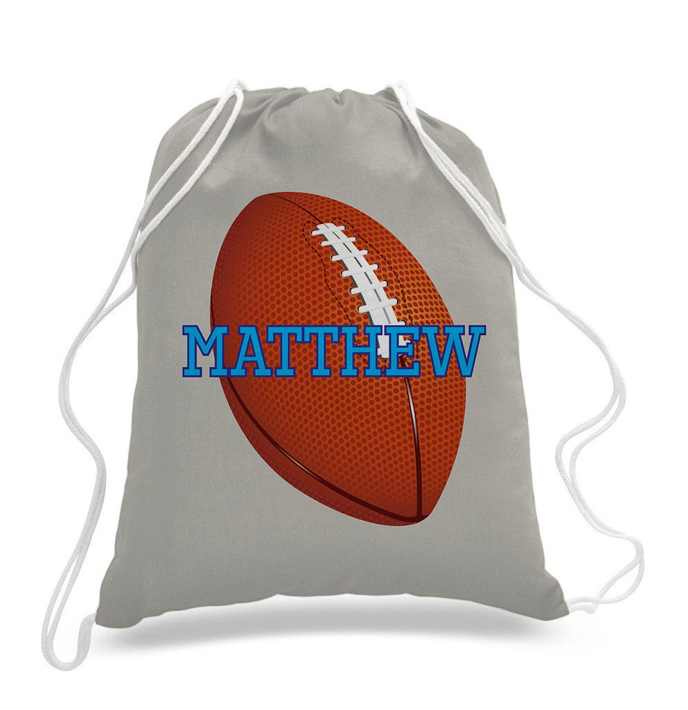e2df20df2c Personalized Footbal design - Kids drawstring bags
