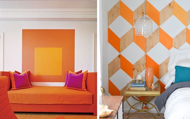 Ideas para pintar las paredes con motivos geom tricos - Paredes pintadas originales ...