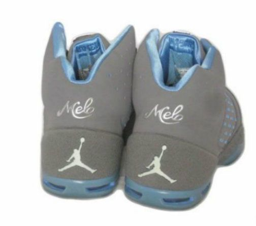 the best attitude 03026 c8be8 05 NIKE AIR JORDAN MELO 5.5 SIZE 8.5 MEN GRAY BLUE CARMELO ANTHONY SAME DAY  SHIP  Nike  BasketballShoes