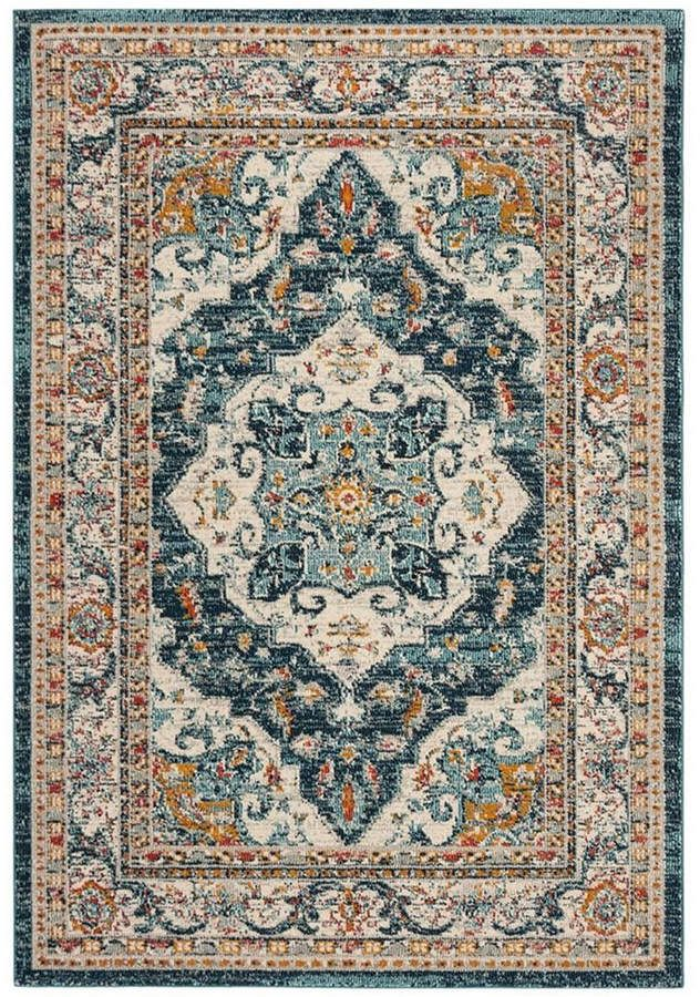 Safavieh Phoenix Ivory And Blue 6 7 X 6 7 Square Area Rug In 2019