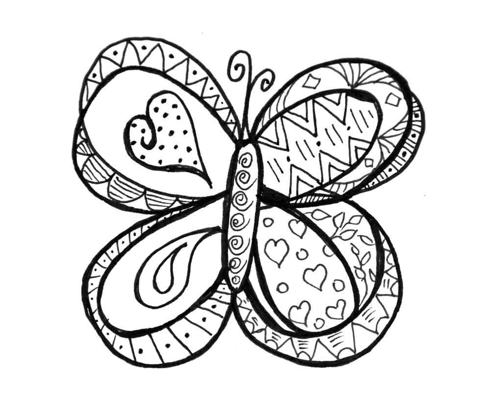 Butterfly Doodle Coloring Page Butterfly Coloring Page Spring Coloring Pages Doodle Coloring [ 803 x 1004 Pixel ]