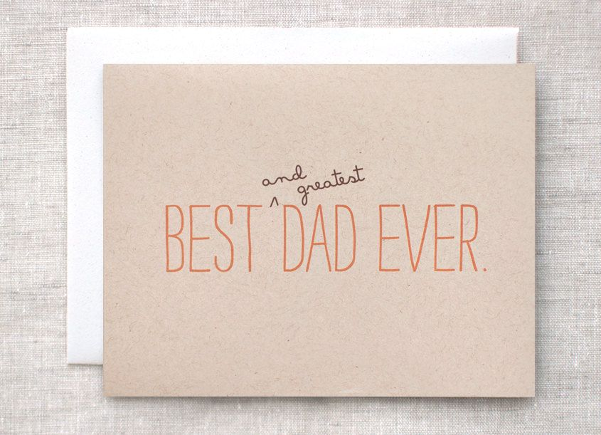 Fatheru0027s Day Card, Birthday Card - Best and Greatest Dad Ever - printable best friend birthday cards