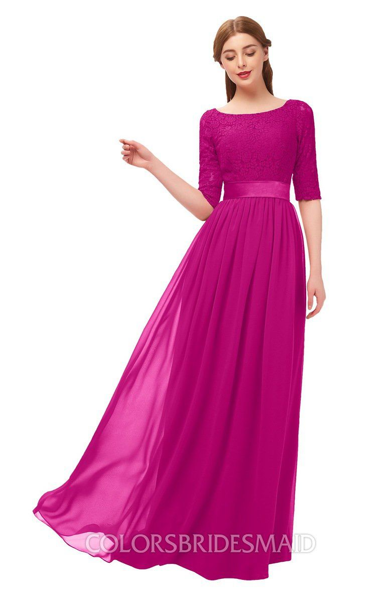 3c833040ab08 ColsBM Payton Bridesmaid Dresses Sash A-line Modest Bateau Half Length  Sleeve Zip up #colsbm #bridesmaids #bridesmaiddress #weddings .