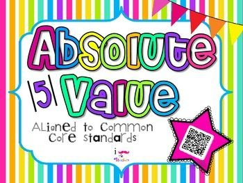 Absolute Value **QR CODE Task Cards