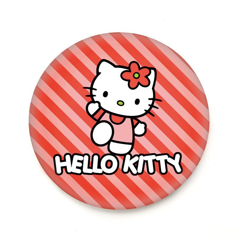 Wallpaper Helloworld: 1pc Red Kitty Mini Pocket Makeup Mirror Cosmetic Compact