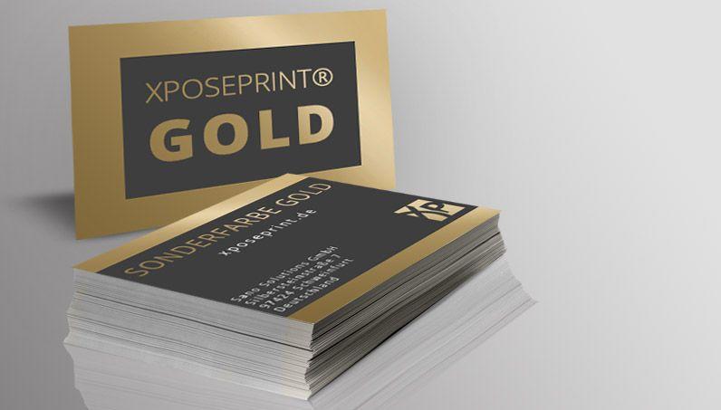 Visitenkarten Mit Sonderfarbe Gold Visitenkarten Online