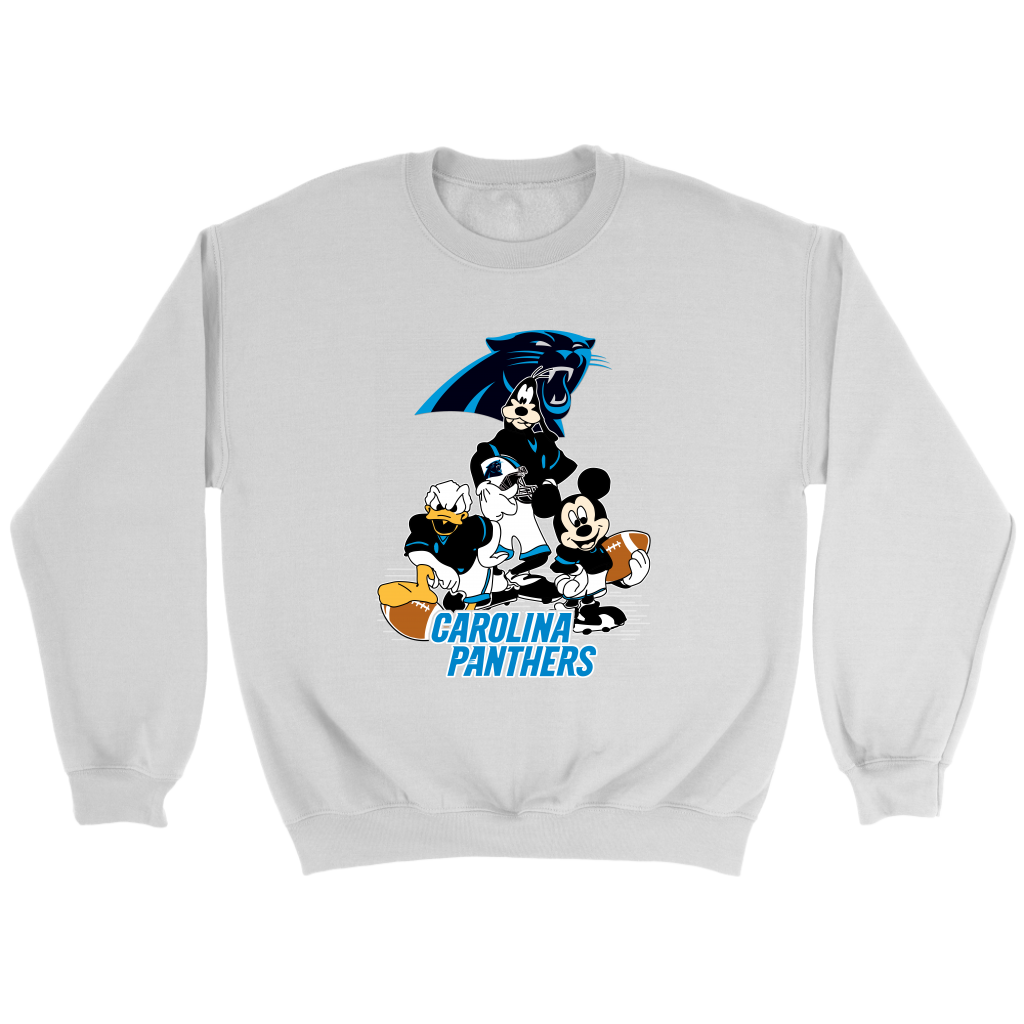 21ffae76 Carolina Panthers Mickey Mouse Donald Duck Goofy Football Shirt NFL. Mickey  Mouse, Donald Duck
