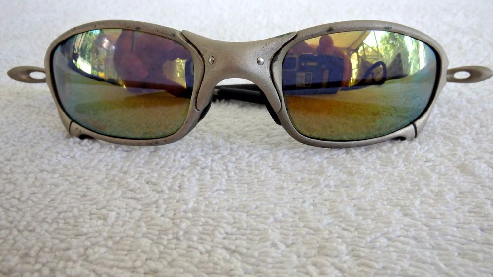 dc5715cd674 Oakley Juliet X-Metal Frame Sunglasses Fire Iridium Sunburst Lens Vntg 1st  Gen  Oakley  Juliet