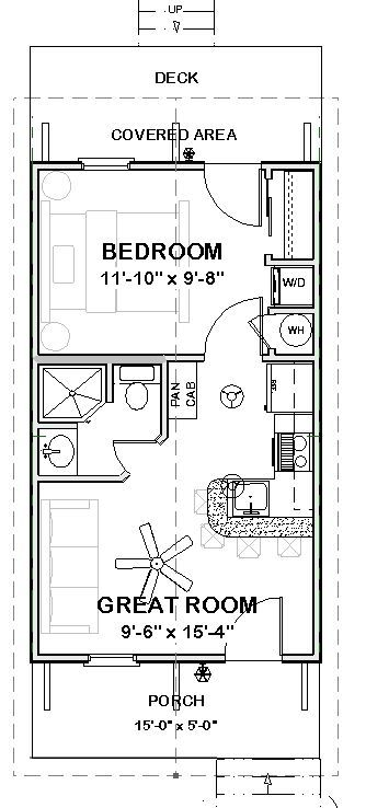 Expandable Guest Cottage Floor Plan