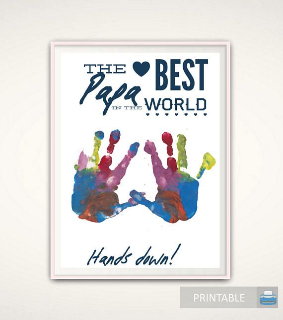 Papa Print Birthday Gift Personalized Gifts For