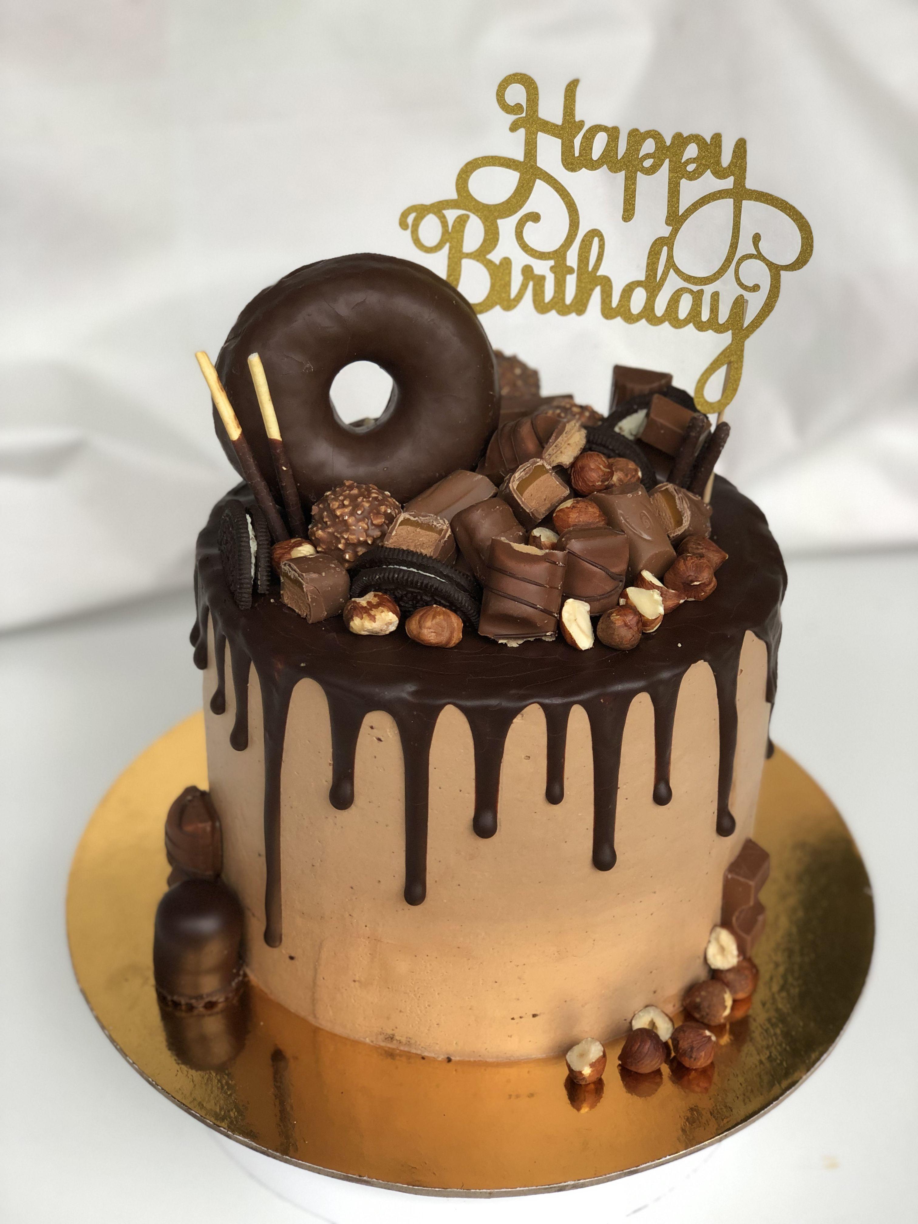Chocolate bomb dripcake donut birthdaycake 13