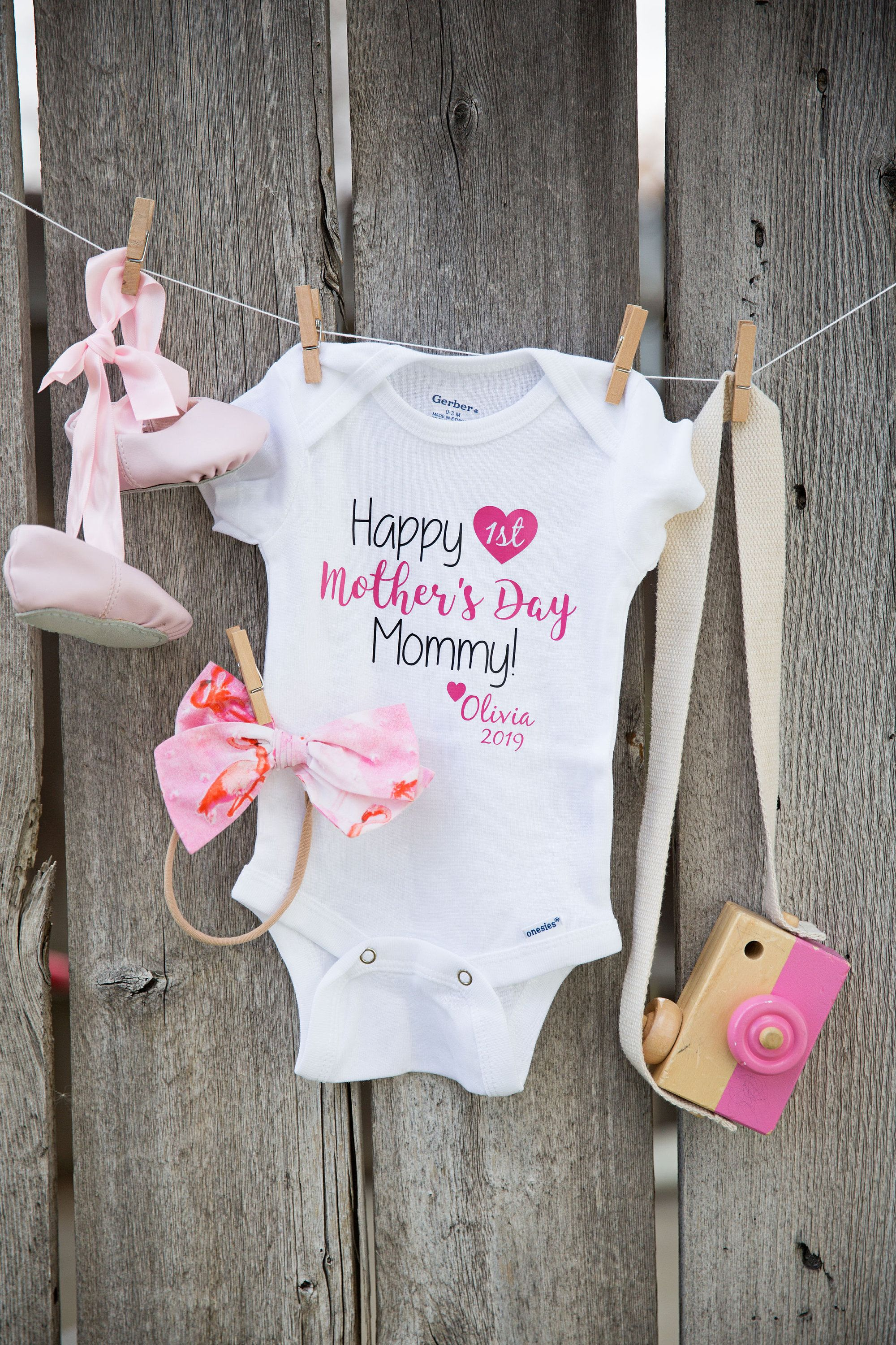 Baby Girl Onesie, First Mothers Day, Mothers Day Gift from